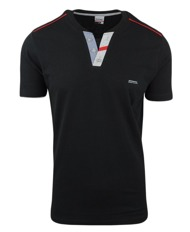 Koszula męska z długim rękawem w kolorowy wzór 097  vOuVx