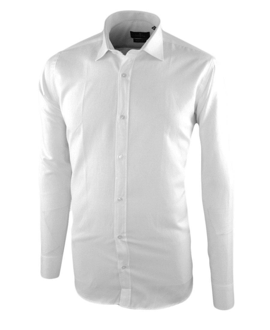 f427872589d3ba Koszula męska z długim rękawem w kolorze białym 035 | GOLF CLUB | Sklep  internetowy Merits.pl
