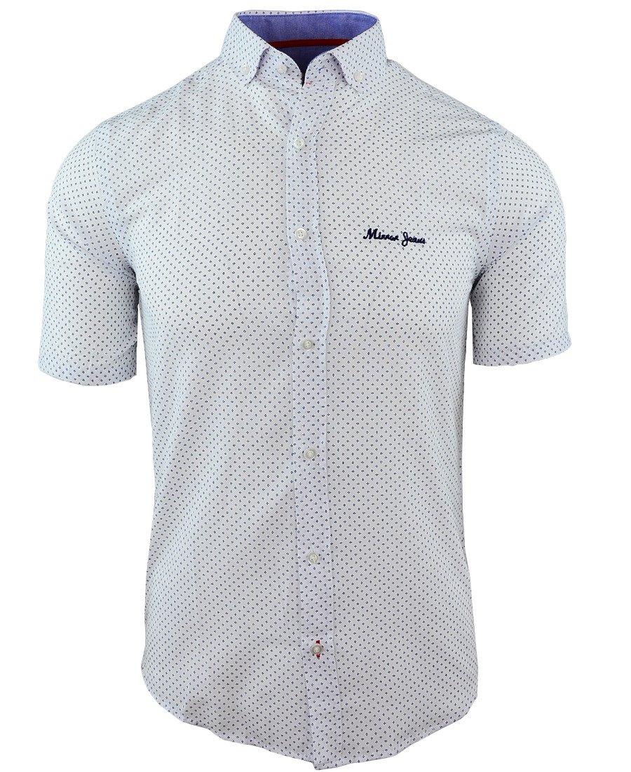 945e30d88e6f66 Koszula męska z krótkim rękawem w kolorze białym 085 | MIRROR | Sklep  internetowy Merits.pl