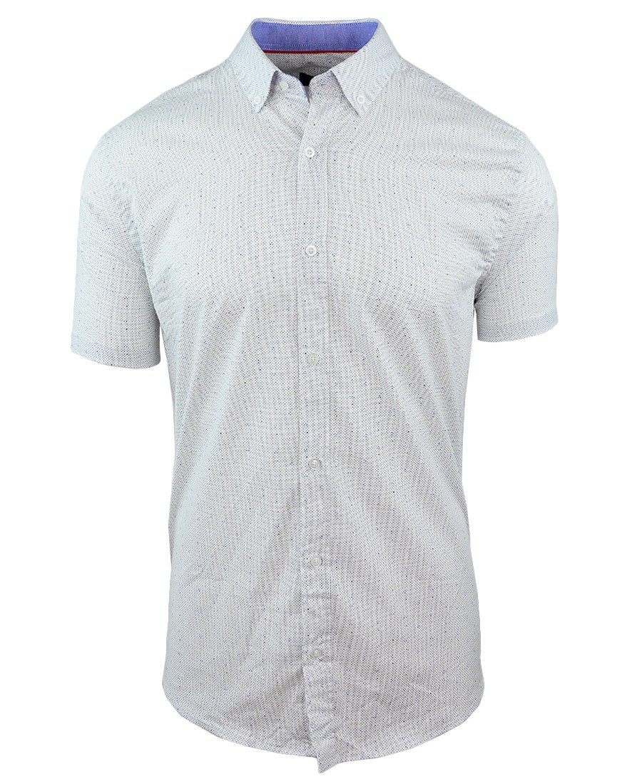 a3c090f32a9f14 Koszula męska z krótkim rękawem w kolorze białym 086 Kliknij, aby  powiększyć ...