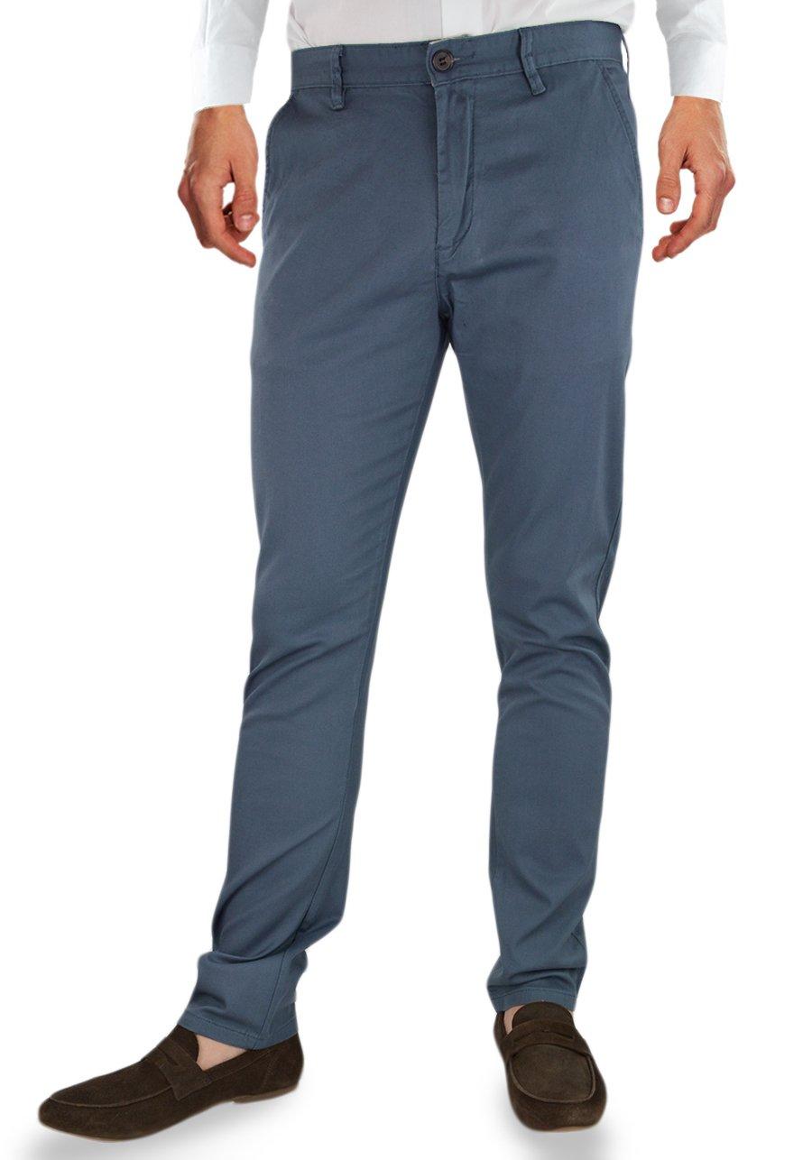 Spodnie męskie chinosy, slim fit grafitowe KA969 39