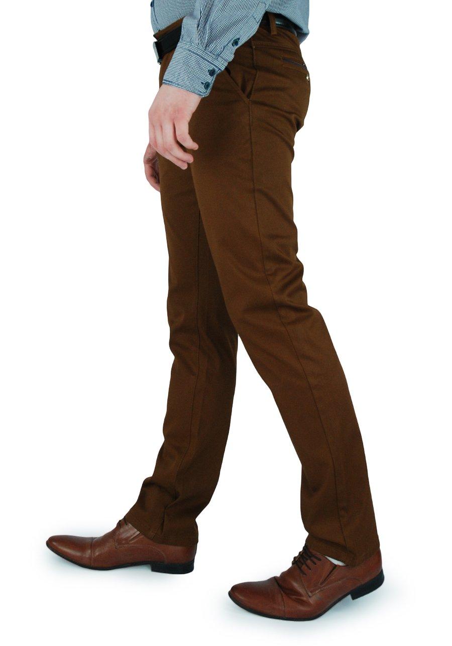 c220a551ee8c1 Spodnie męskie w kolorze brązowym 467-7_468-7 | KINGBON | Sklep internetowy  Merits.pl