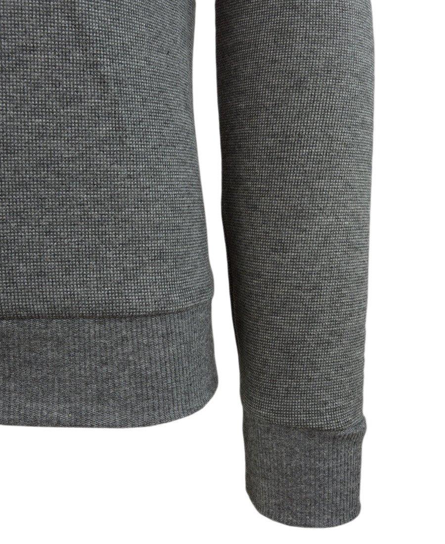2e943bf73414 ... Sweter męski w kolorze szarym z kołnierzykiem 14-5317-1 Kliknij